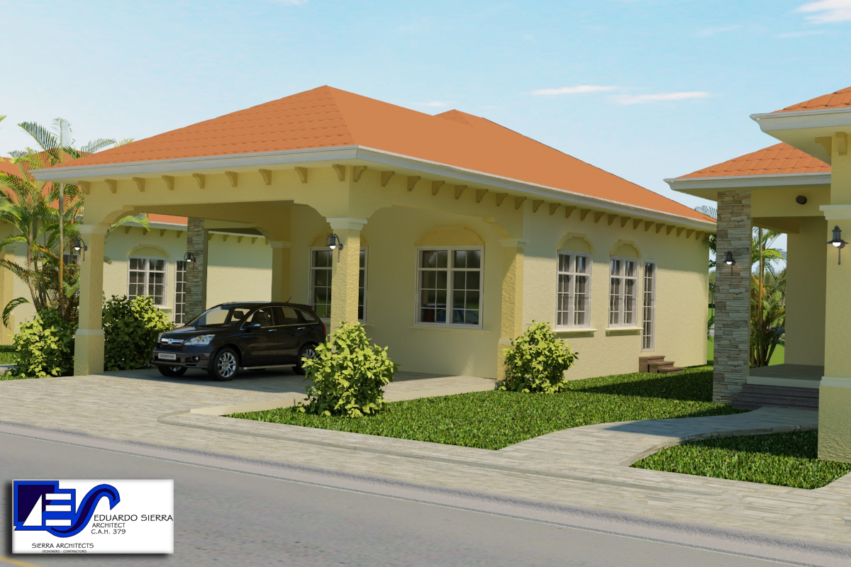 Alta vista beach 2 bedroom bungalow 1355 jaguar for 2 bhk bungalow designs